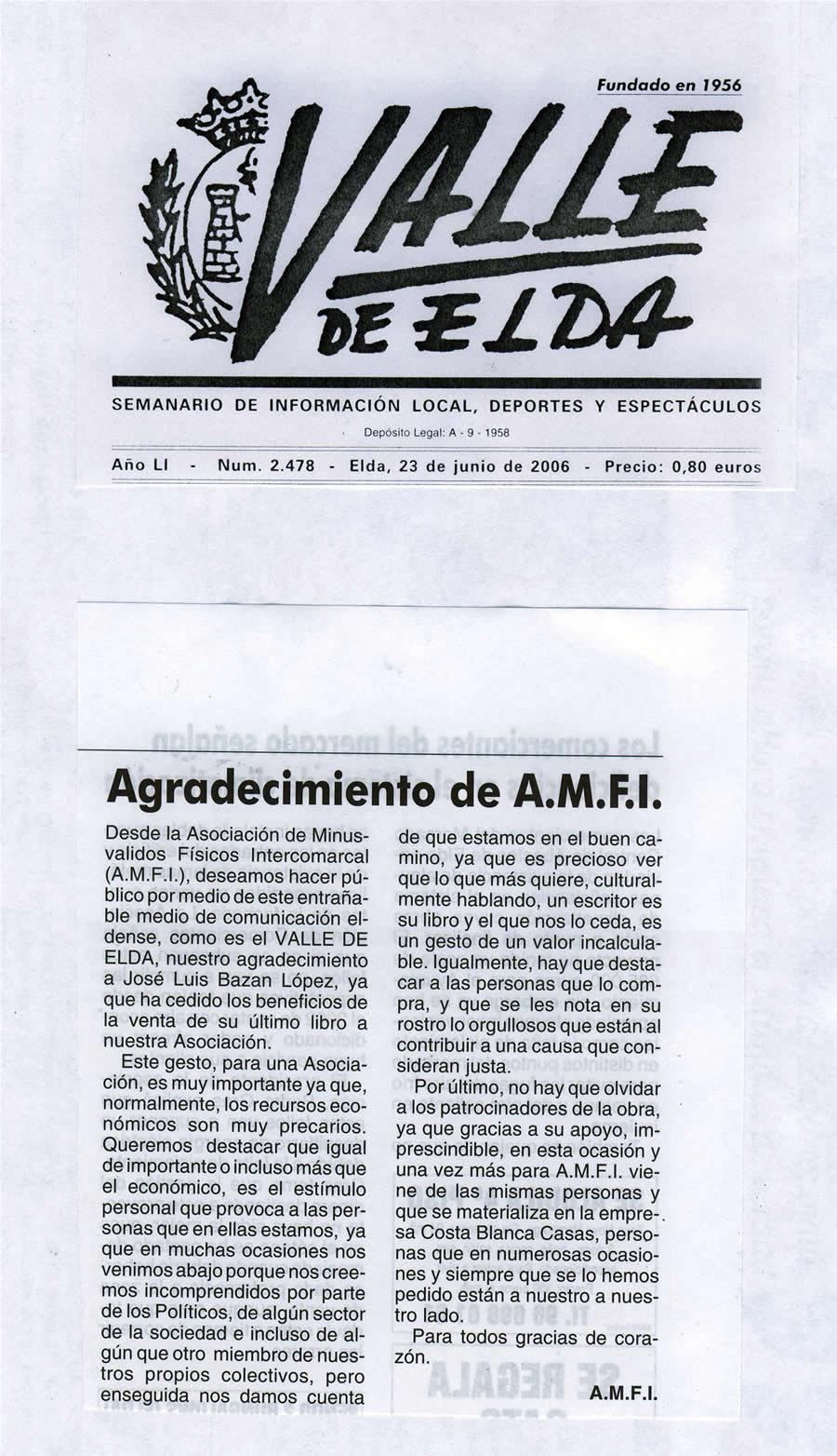 1 2006 de 23 de junio: