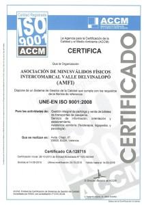 Certificado ISO 2015-2018 Renovado