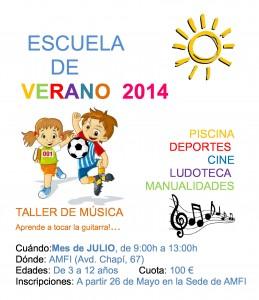Escuela de Verano 2014    Piscina, deportes, ludoteca, cine, manualidades, taller de música