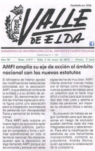 Valle de Elda 2 de mayo de 2014 AMFI amplía su eje de acción al ámbito nacional con los nuevos estatutos