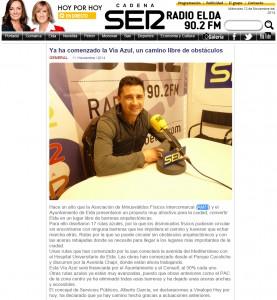 radioelda.com 11 de noviembre de 2014 Ya ha comenzado la Vía Azul, un camino libre de obstáculos