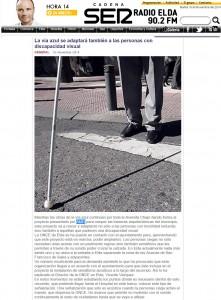 radioelda.com 18 de noviembre de 2014 La vía azul se adaptará también a las personas con discapacidad visual