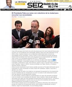 radioelda.com 30 de octubre de 2014 El Presidente Fabra se reúne con colectivos de la ciudad para escuchar sus necesidades