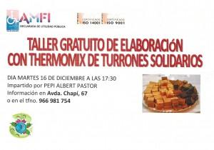 Taller gratuito de elaboración con Thermomix de turrones solidarios