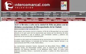 intercomarcal.com 11 de diciembre de 2014 Ayer se llevaba a cabo en la ciudad de Elda un pleno con las distintas asociaciones de Discapacitados de la Ciudad.