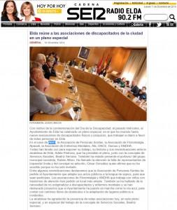 radioelda.com 10 de diciembre de 2014 Elda reúne a las asociaciones de discapacitados de la ciudad en un pleno especial