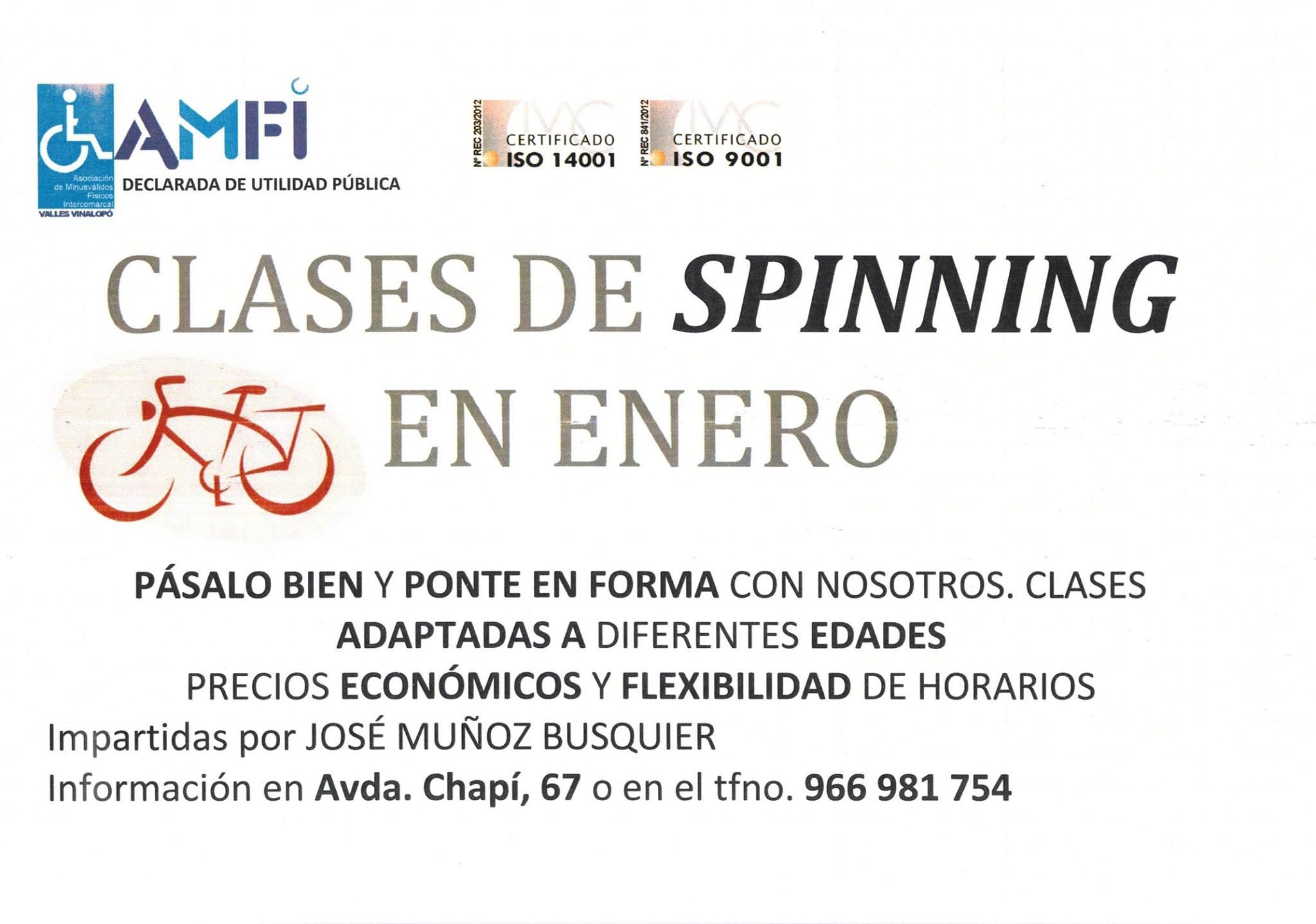 Amfi clases de spinning en enero for Clases de spinning