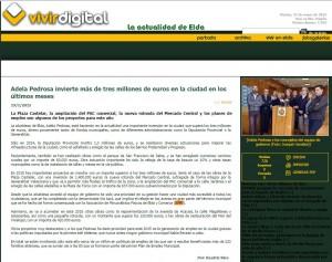 vivirdigital.com 19 de enero de 2015 Adela Pedrosa invierte más de tres millones de euros en la ciudad en los últimos meses