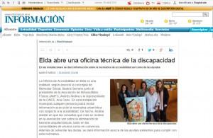 diarioinformacion.com 30 de abril de 2015 Elda abre una oficina técnica de la discapacidad