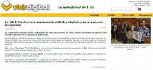 vivirdigital.com 24 de abril de 2015 La Falla El Huerto creará un monumento visitable y adaptado a las personas con discapacidad