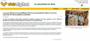 vivirdigital.com 29 de abril de 2015 La nueva Oficina de Accesibilidad ofrecerá asesoramiento sobre la correcta ejecución de obras públicas y privadas