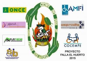 """Cartel del proyecto de la Falla El Huerto dedicado a la discapacidad Discapacita""""T"""""""