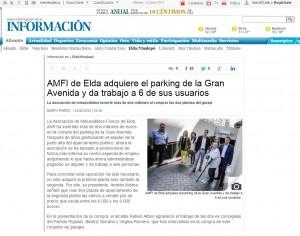 diarioinformacion.com 23 de junio de 2015 AMFI de Elda adquiere el parking de la Gran Avenida y da trabajo a 6 de sus usuarios