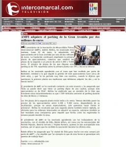 intercomarcal.com 23 de junio de 2015 AMFI adquiere el parking de la Gran Avenida por dos millones de euros