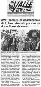 Valle de Elda 26 de junio de 2015 AMFI compra el aparcamiento de Gran Avenida por más de dos millones de euros