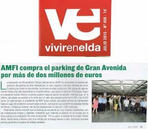 Vivir en Elda julio de 2015  AMFI compra el aparcamiento de Gran Avenida por más de dos millones de euros