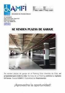 Venta de plazas de garaje en Parking Gran Avenida