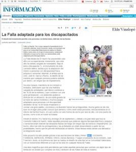 diarioinformacion.com 20 de septiembre de 2015 La Falla adaptada para los discapacitados