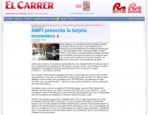 diarioelcarrer.es 15 de octubre de 2015 AMFI presenta la tarjeta monedero