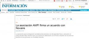 diarioinformacion.com 6 de octubre de 2015 La asociación AMFI firma un acuerdo con Novaire