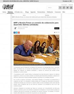 valledeelda.com 5 de octubre de 2015 AMFI y Novaire firman un convenio de colaboración para desarrollar distintas actividades