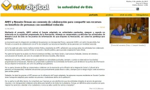 vivirdigital.com 5 de octubre de 2015 AMFI y Novaire firman un convenio de colaboración para compartir sus recursos en beneficio de personas con movilidad reducida