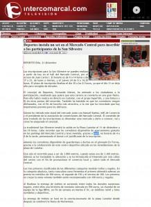 intercomarcal.com 21 de diciembre de 2015 Deportes instala un set en el Mercado Central para inscribir a los participantes de la San Silvestre