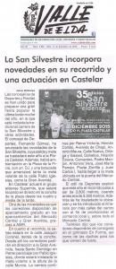 Valle de Elda 11 de diciembre de 2015 La San Silvestre incorpora novedades en su recorrido y una actuación en Castelar