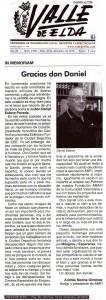 Valle de Elda 18 de diciembre de 2015 In Memoriam - Gracias Don Daniel