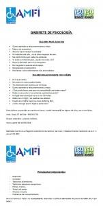 AMFI psicología, nuevos talleres.