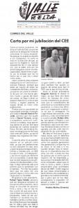 En Correo del Valle: Carta por mi jubilación por Andrés Molina Presidente de AMFI