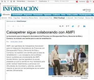 diarioinformacion.com 3 de mayo de 2016 Caixapetrer sigue colaborando con AMFI