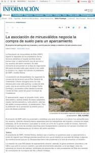 diarioinformacion.com 6 de mayo de 2016 La asociación de minusválidos negocia la compra de suelo para un aparcamiento