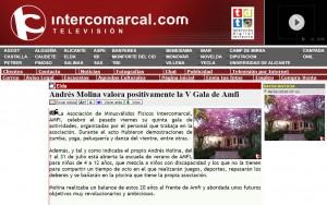 Andrés Molina valora positivamente la V Gala de Amfi