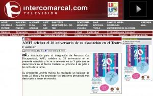 intercomarcal.com 24 de junio de 2016 AMFI celebra el 20 aniversario de su asociación en el Teatro Castelar
