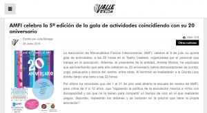 valledeelda.com 28 de junio de 2016 AMFI celebra la 5ª edición de la gala de actividades coincidiendo con su 20 aniversario