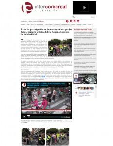 Éxito de participación en la marcha en bici por las fallas, primera actividad de la Semana Europea de la Movilidad