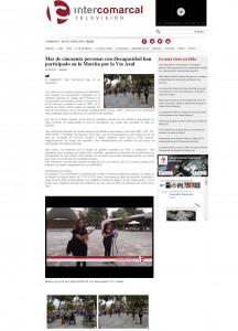 Más de cincuenta personas con discapacidad han participado en la Marcha por la Vía Azul