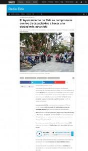 El Ayuntamiento de Elda se compromete con los discapacitados a hacer una ciudad más accesible