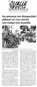 Valle de Elda 23 de septiembre de 2016 Las personas con discapacidad pidieron en una marcha una ciudad más accesible