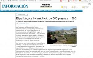 El parking se ha ampliado de 500 plazas a 1.500