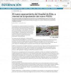 El nuevo aparcamiento del Hospital de Elda, a merced de la aprobación del nuevo PGOU