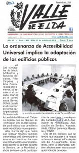 La ordenanza de Accesibilidad Universal implica la adaptación de los edificios públicos. En Valle de Elda edición impresa