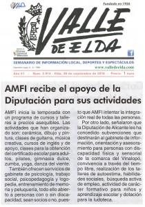 AMFI recibe el apoyo de la Diputación para sus actividades