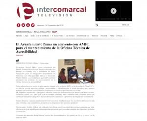 El Ayuntamiento firma un convenio con AMFI para el mantenimiento de la Oficina Técnica de Accesibilidad