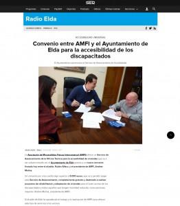Convenio entre AMFI y el Ayuntamiento de Elda para la accesibilidad de los discapacitados