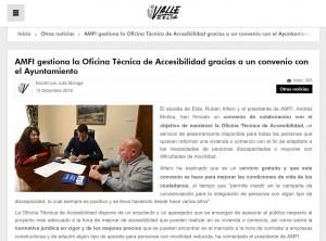 AMFI gestiona la Oficina Técnica de Accesibilidad gracias a un convenio con el Ayuntamiento