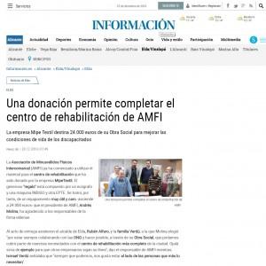 Una donación permite completar el centro de rehabilitación de AMFI