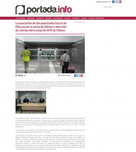 La asociación de discapacitados físicos de Elda asume la venta de billetes y atención de clientes de la estación AVE de Villena