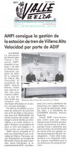AMFI consigue la gestión de la estación de tren de Villena Alta Velocidad por parte de ADIF